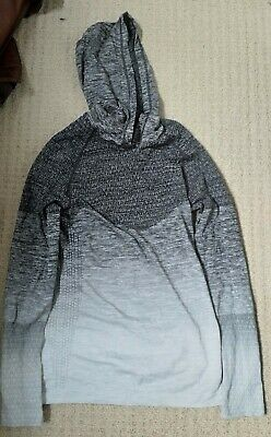 MyProtein ombre grey hoodie top size M