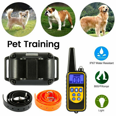 Dog Shock Anti Bark Collar Remote Waterproof Electric For 880 Yard Pet Training