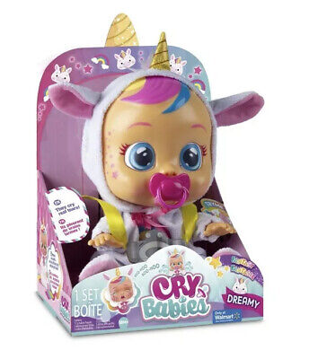 Cry Babies DREAMY The Unicorn Baby Doll Cries Real Tears NEW EXCLUSIVE