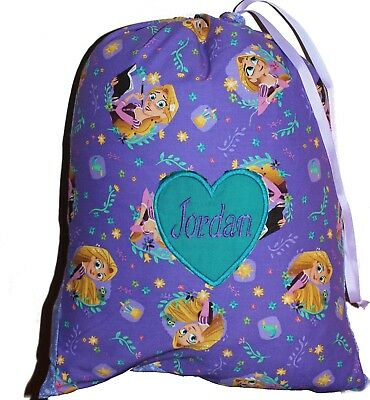 Kids Personalised Drawstring Library Bag - Rupunzel - SMALL - First name FREE