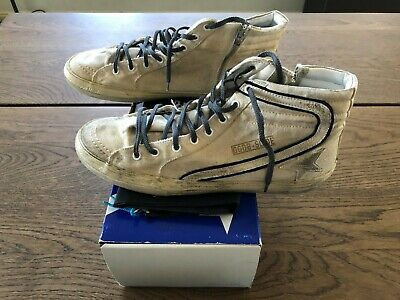 Golden Goose Designer Shoes High Top Sneakers Canvas White 11UK