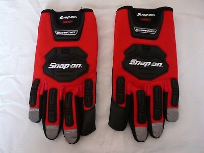 Snap On Red Impact Protection Supercuff Gloves (Size XL) GLOVE501RXLC