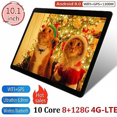 10.1'' Tableta Android Ten core 8+128GB WiFi 3G 13MP Cámara HD Tablet PC 2 SIM