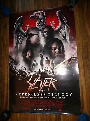 """SLAYER Repentless Killogy Movie Poster 27""""/40"""" theatrical release 2019 / band"""