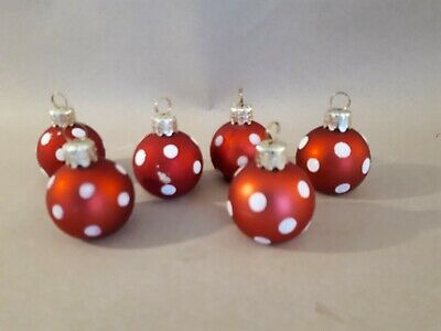 6 preowned  place/name card holder settings Christmas baubles