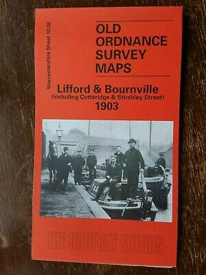 Old Ordnance Survey Map Lifford and Bournville 1903