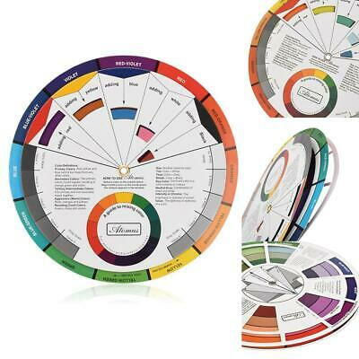 Portable Color Wheel Mixing Guide for Tattoo Makeup Hobby Painting Freeshipping