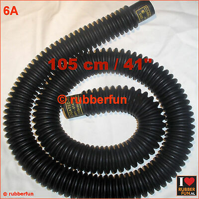 Corrugated black rubber hose - medical anesthesia - 105 cm / 41 inch - type A