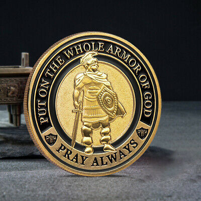 Knight commemorative coin Knight honor coin Put on The Whole Armor of God UP