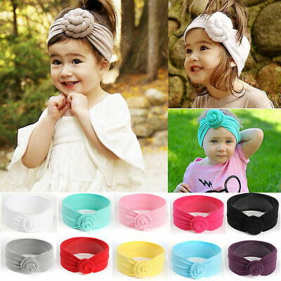 Kids Girls Cotton Accessories Toddler Turban Baby Headband Knot Hair Band