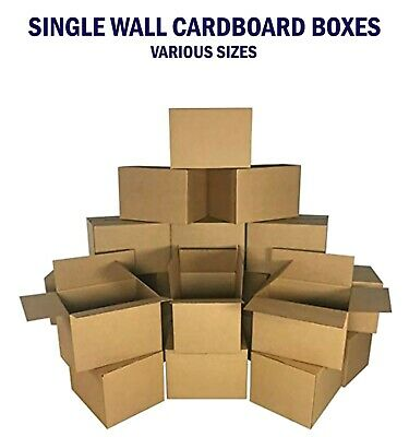 SINGLE Wall Cardboard Box Small Medium Large Royal Mail Parcel Packaging House