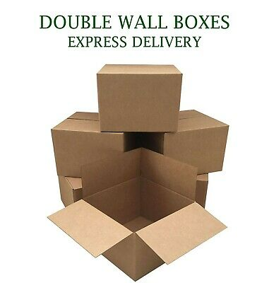DOUBLE WALL Corrugated Cardboard Boxes House Moving Mail Parcel Small Medium L