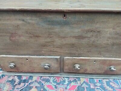 Very Large Late 18th Century Pine 2 Draw Mule Chest