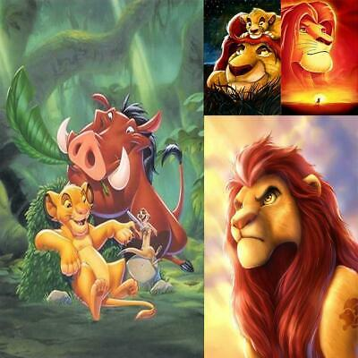5D DIY Full Drill Diamond Painting The Lion King Pattern Cross Stitch Decor #cz