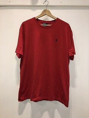 Polo Ralph Lauren Mens Red T Shirt, Size Large #10.294 A