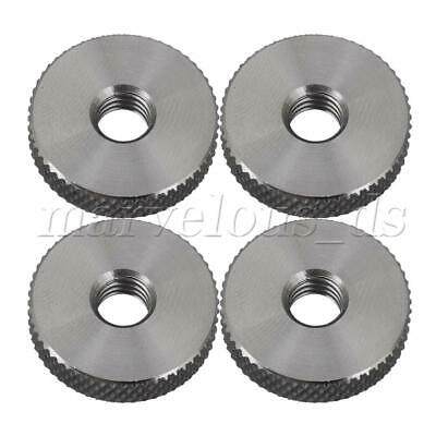4pcs Cylindrical Knurled Thumb Nut M6 20x5mm Stainless Steel Nuts Replacement