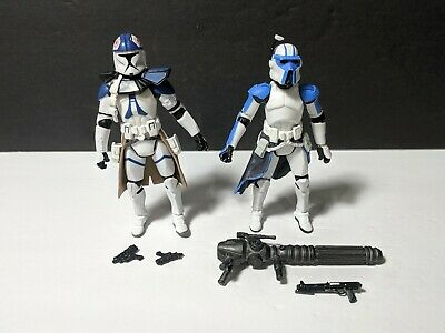 Star Wars Legacy Collection Clone LOT ARC Trooper Quad Cannon +Custom Commander