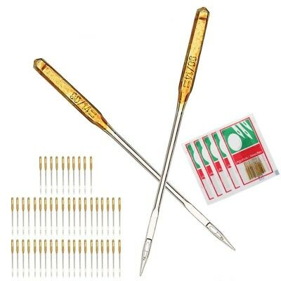 10x Sewing Machine Needles 90/14 No.14 For Singer Janome Juki Fit Old Sewing