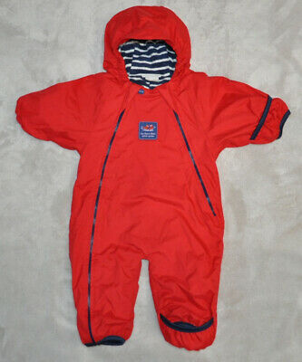 Jojo Maman Bebe Baby Unisex Jacket Snowsuit 0-3 Months Winter All in One Red