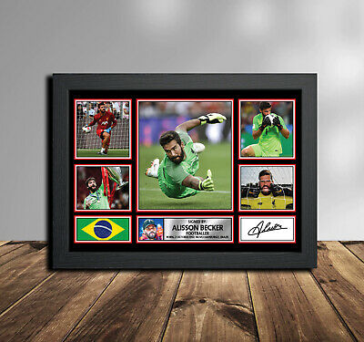Signed by Liverpool Player Alisson Becker Memorabilia Poster Print  KIDS GIFT