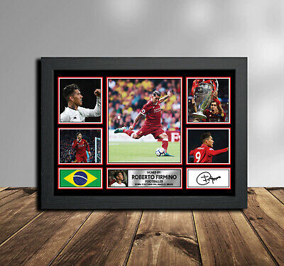 Signed by Liverpool Player Roberto Firminho Memorabilia Poster Print  KIDS GIFT