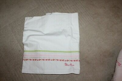 Silver Cross , Flat sheet for cots, White, Pink and Green.