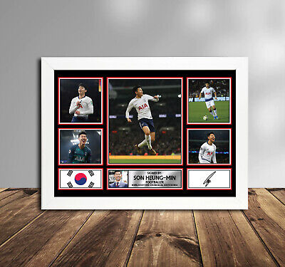 Signed by Tottenham Player Heung Min Son Memorabilia Poster Print  KIDS GIFT