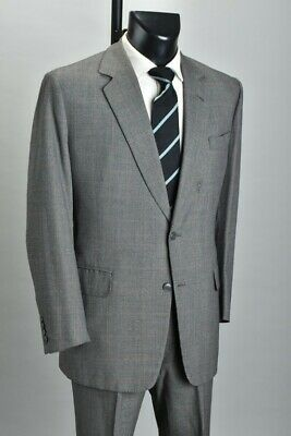 Grand Gentleman's 1987 Bespoke London Tailored Worsted Lounge Suit.  Ref RCG