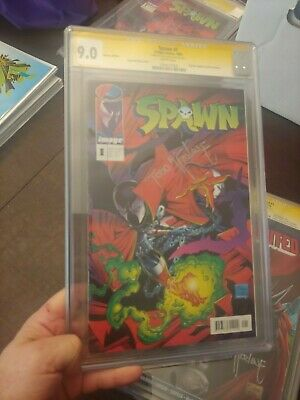Spawn #1 Cgc Ss 9.0  1St App Of Spawn & Violator German Edition Todd Mcfarlane
