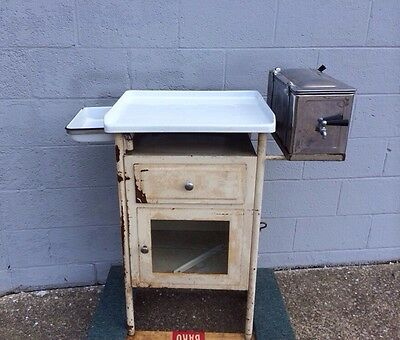 Early Antique Medical Hospital Sterilizer Surgical Cabinet 1920-1930