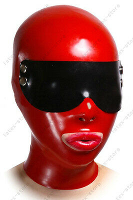 4681 Latex Rubber Gummi Mask Hood goggles eyes covering customized costume 0.7mm
