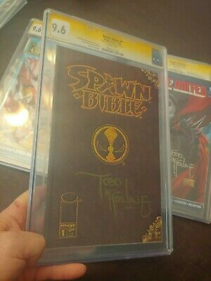 Spawn Bible #1 Cgc Ss 9.6 Signed By Todd Mcfarlane