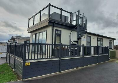 Lodge for sale off site 42ft x 14ft with Sky Deck - WOW