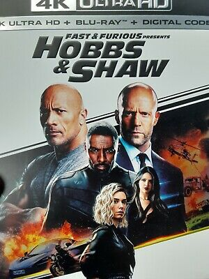 Hobbs & Shaw Fast and Furious (4K ,Blu-ray ,& Digital) Sealed w/slipcover New!