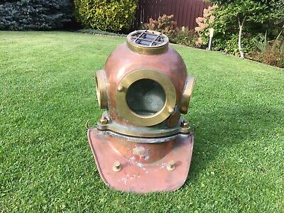 Original Russian 3-bolt Diving helmet with top porthole. Made in 1978.