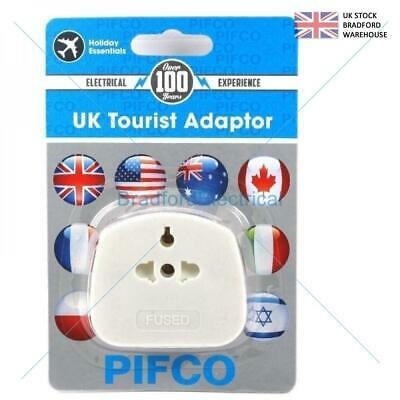UK Tourist Adapter 3 Pin US EU to UK Plug Converter Main Power Adaptor Fused 13A