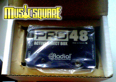 Radial PRO 48 Active Direct Pro48 DI Box Acoustic Guitar/Bass/Keyboard PRISTINE!