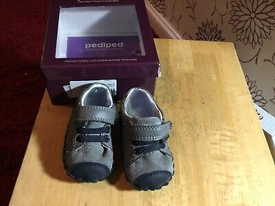 Pediped Originals 'Lionel' Baby Shoes In Charcoal 6-12 Months BNWB RRP £40