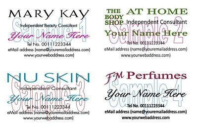 Personalised Body Shop FM Perfumes Mary Kay NuSkin BUSINESS CARDS 50 Printed