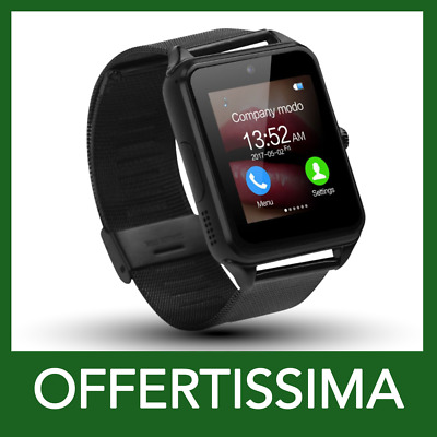 Orologio Telefono Smartwatch Android iOs Bluetooth Nero x Power Sportivo Cardio