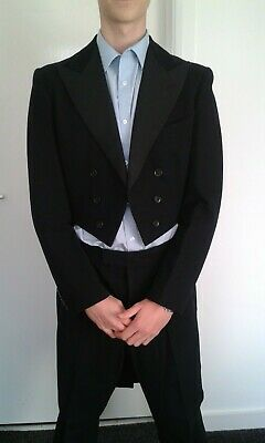 """Vintage bespoke tailcoat & trousers W H Watts tailor Sydenham  38"""" chest"""