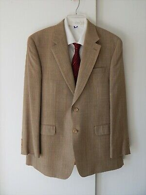 mens brown RALPH LAUREN jacket blazer sport coat wool silk 2 button regular 42R