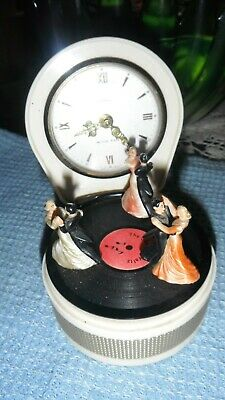 musical clock with automation dancers on record working very unusual piece
