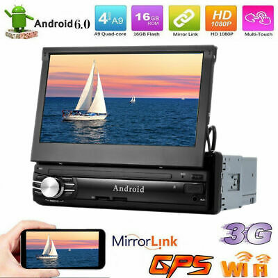 """7"""" Single 1 DIN Android 6.0 Car Radio Stereo GPS NAVI Dual WiFi Touch Screen+CAM"""