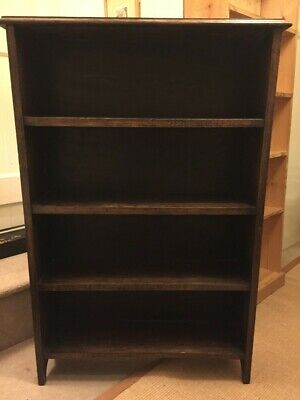 Antique Edwardian Bookcase, heavy oak, open front, great condition (115x78x19)