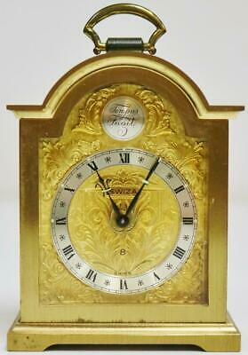 Antique Swiss Swiza 8 Day Carriage Clock Small Proportioned Travel Desk Clock