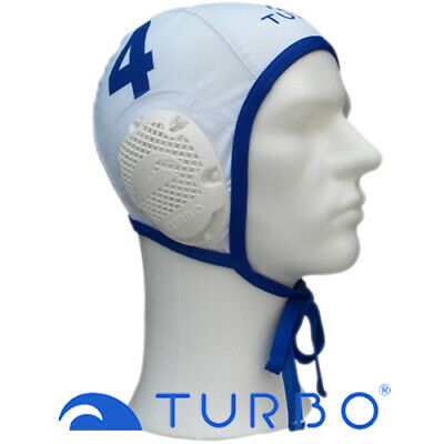 *Populair* Turbo waterpolo cap wit nummer 6