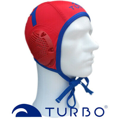 Turbo Waterpolo cap keeper rood blauw nummer 1