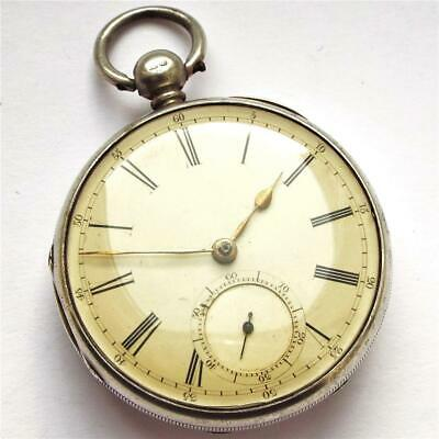 1858 Silver Fusee Chain Drive Pocket Watch In Full Working Order