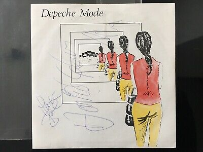 """Depeche Mode Dreaming Of Me Uk 7"""" Signed Autographed Dave Andy Martin 1981 !!!!"""